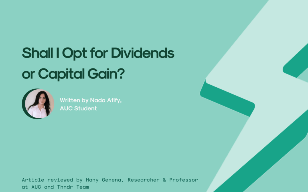 Shall I Opt For Dividends or Capital Gain?